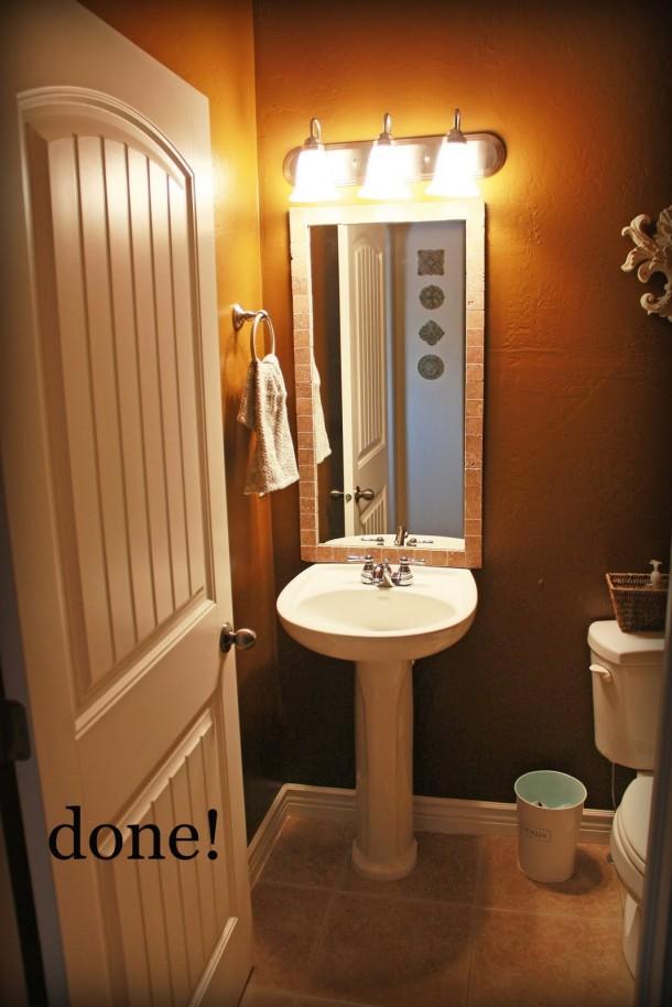 DIY Bathroom Mirror Re-do