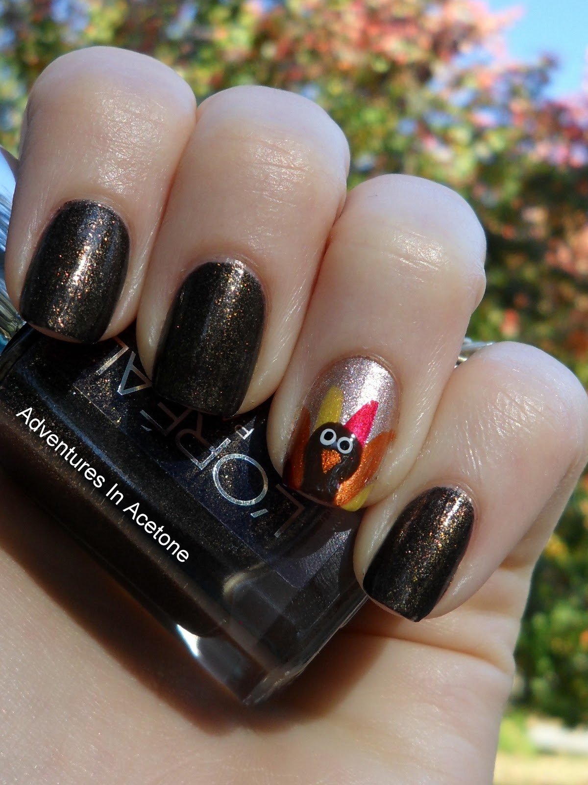DIY Turkey Nails Tutorial
