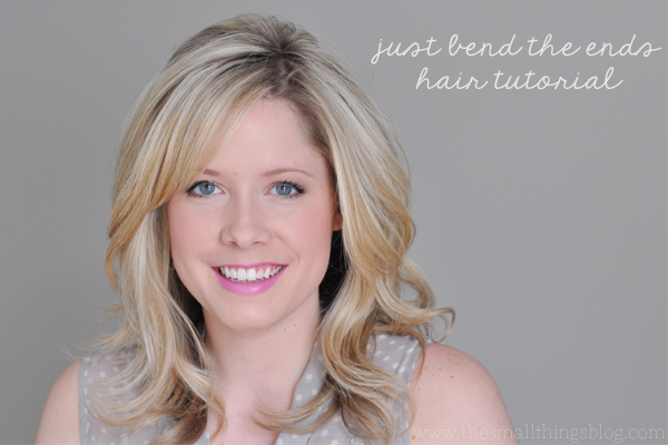 Just bend the ends hair tutorial