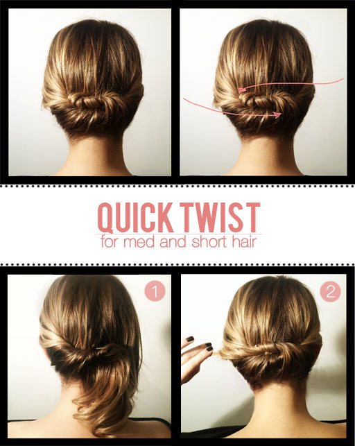 DIY Quick Hair Twist