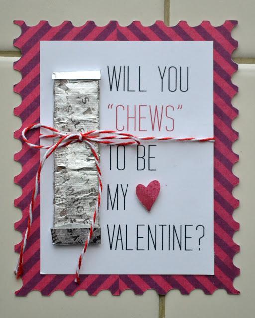 DIY Chewing Gum Valentine