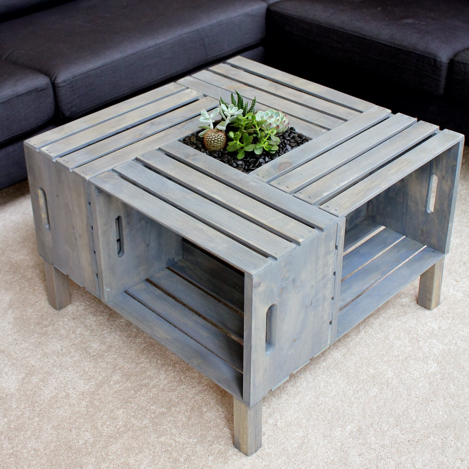 Finished Crate Coffee Table