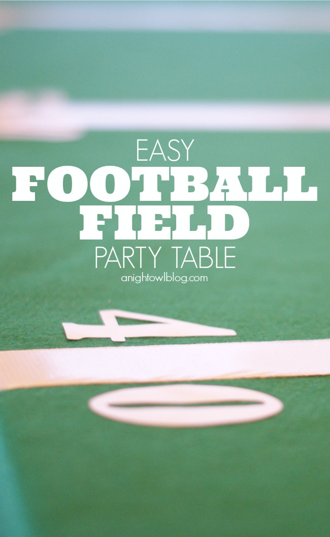 DIY Easy Football Field Party Table