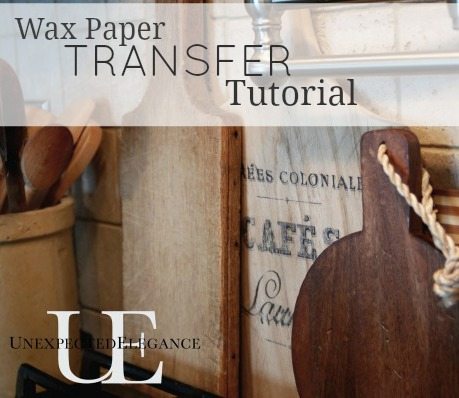 DIY Wax Paper Transfers