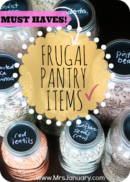 Must-Have Pantry Items