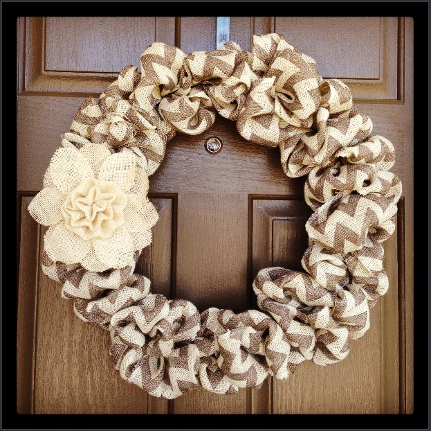 Any Season Accessory For Your Front Door Burlap Wreath