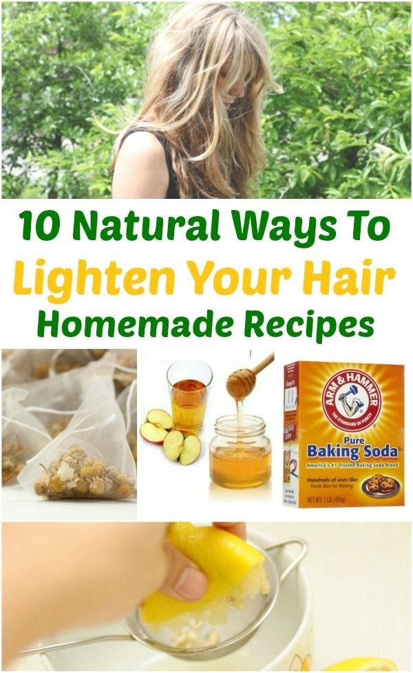 Naturally Lighten Your Hair
