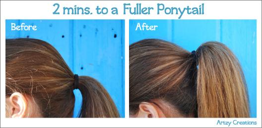 Fuller Ponytail in 2 Minutes