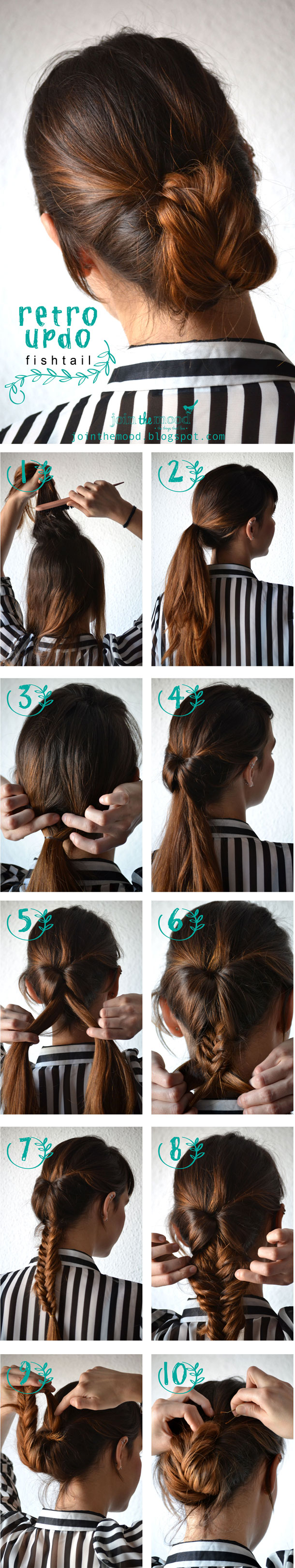 Retro Updo Fishtail