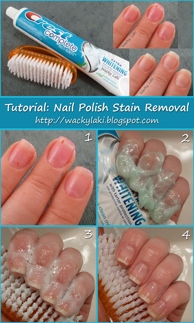 DIY Nail Polish Stain Removal
