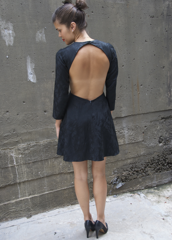 DIY Cut Out Back Mini Dress