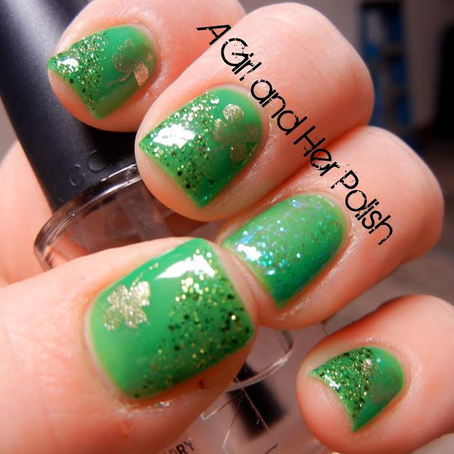 St Patrick's Day Manicure