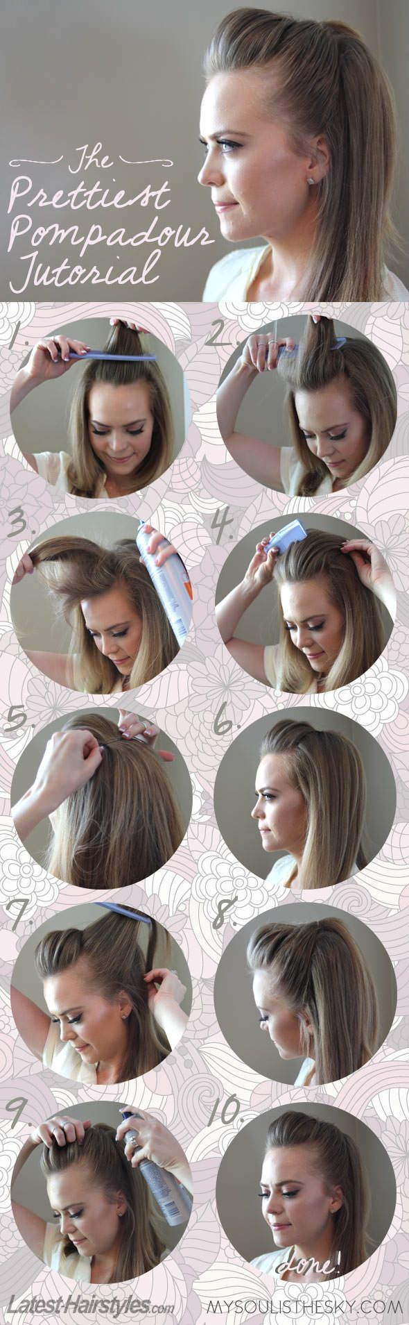 Pretty Pompadour Tutorial