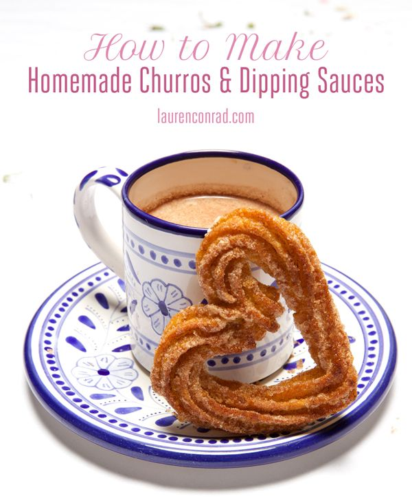 churros and dipping sauce
